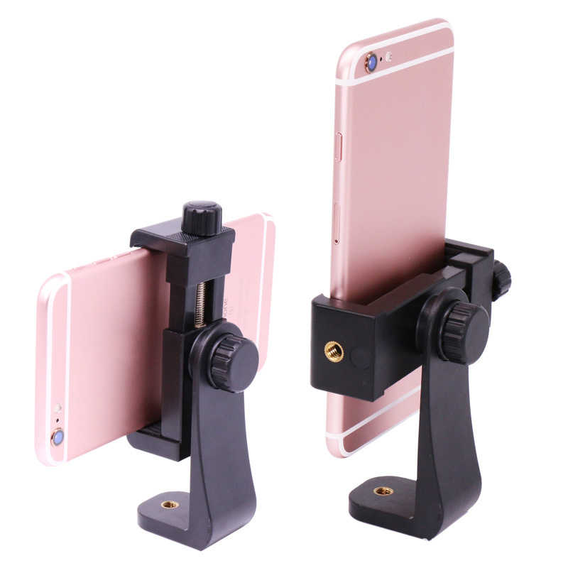 Universal Extendable Mobile Phone Holders tripod mount Phone Clamp With 1/4 Screw 4-6.8inch Extendable Clamp For IPhone HUAWEI