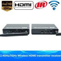 Премиум качество 200ft беспроводной HDMI Extender Wi Fi видео передатчик 1080 P HDMI аудио отправитель приемник с Loop Out и ИК