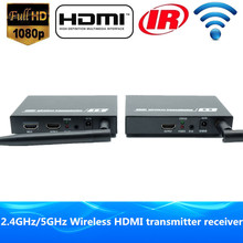 Premium High quality 200ft Wi-fi HDMI Extender WIFI Video Transmitter 1080P Wi-fi HDMI Audio Sender Receiver With Loop Out & IR
