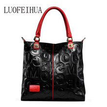 LUOFEIHUA  Brand handbag 2019 new European and American style leather Ladies bag messenger