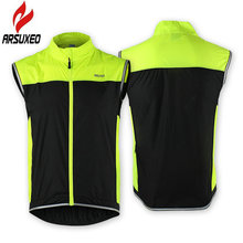 ARSUXED Men Cycling Jersey Sleeveless Breathable Windproof Sport Cycling Vest Reflective MTB Bicycle Running Male Wind Breaker(China)