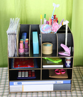 free shipping office supply storage rack multicolor Storage products desktop file holder rack 1047 2