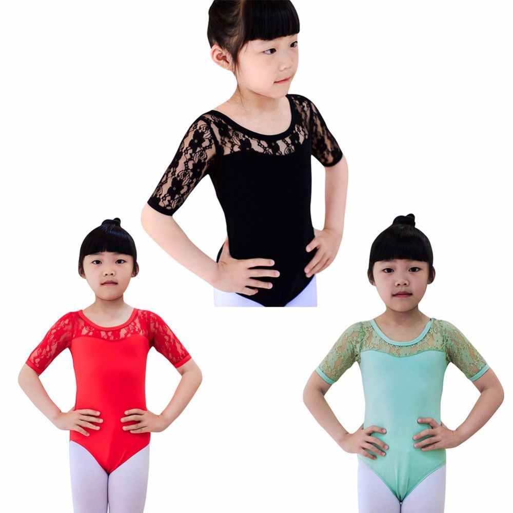 bad2ee1a4 Kids Girls Ballet Dance Dancewear Gymnastics Leotard Lace Skirt Tutu ...