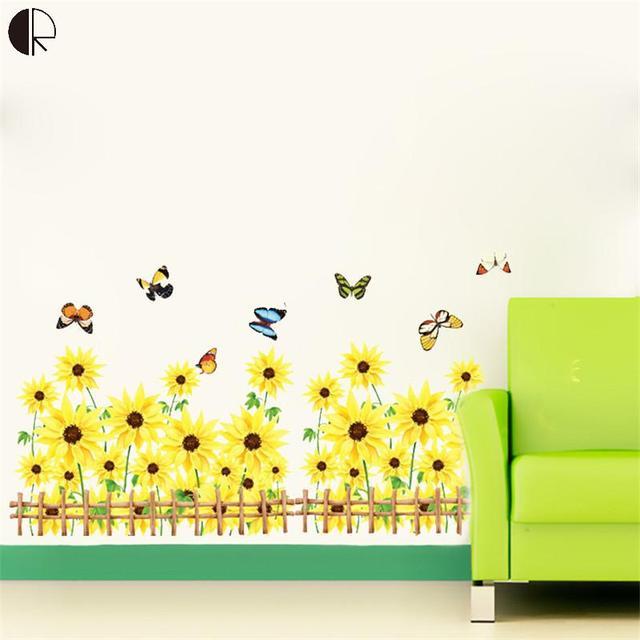 Aliexpress.com : Buy 50cmx70cm Plastic Butterfly Flower Wall Decor ...