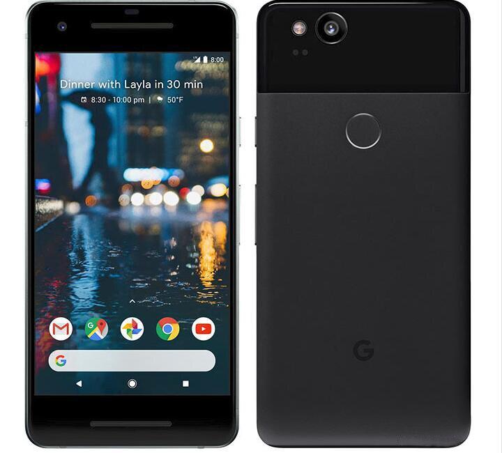 Original Desbloqueado versão UE Google Pixel 2 4G LTE 5.0 polegada Android Núcleo celular Octa 4GB RAM 64 GB/128 GB ROM Único sim Do Telefone