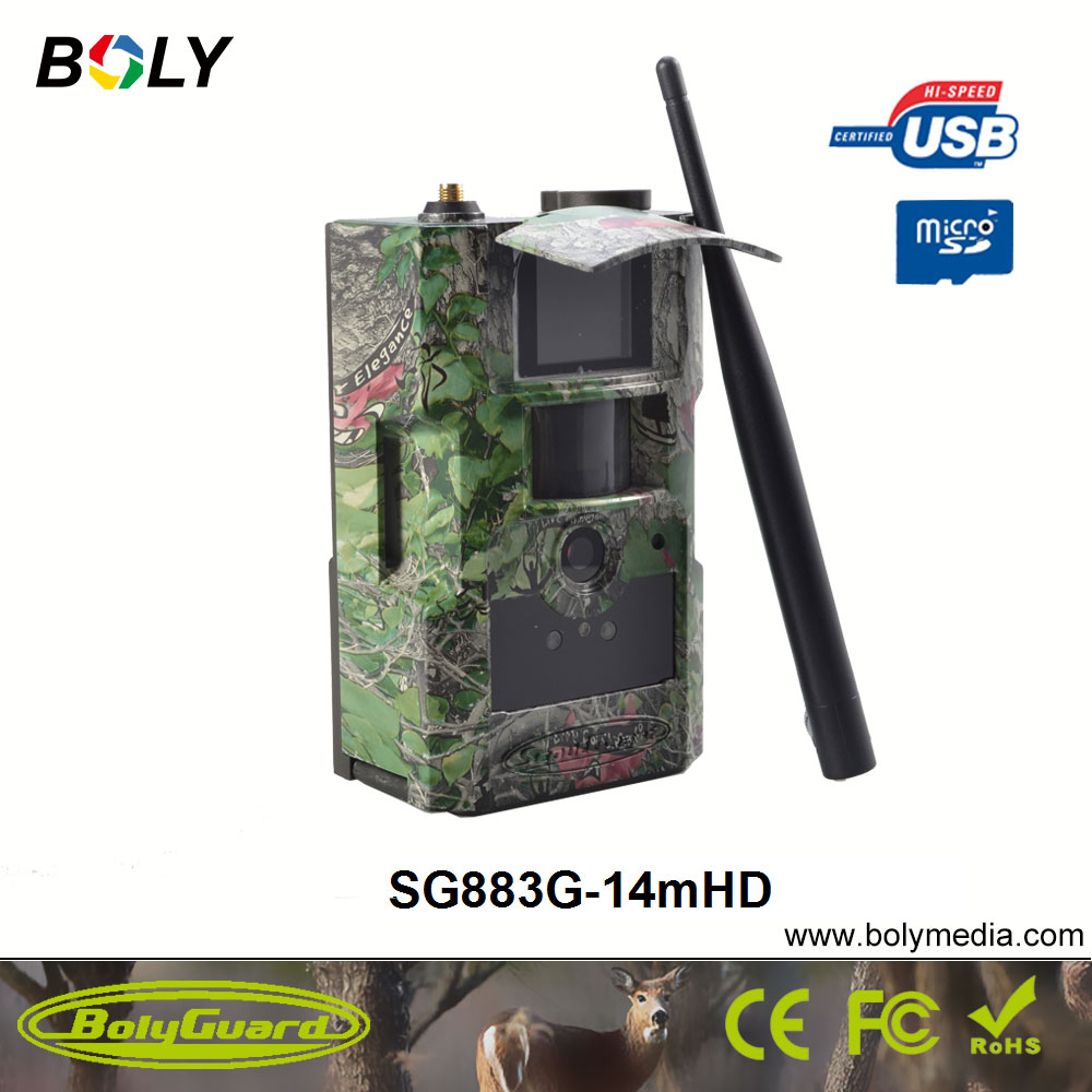 Bolyguard 14MP 720P HD Trail Camera 3G Wireless Home Security GSM Phone MMS GPRS Waterproof Anti