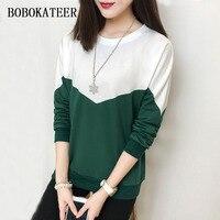 BOBOKATEER Long Sleeve T Shirt Women Tops Plus Size Tshirt Women T Shirt Top Tee Shirt