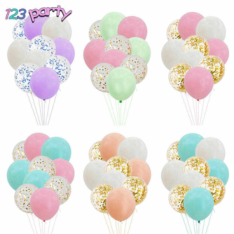 10pcs Confetti Balloon Set Birthday Party Wedding Baby Shower Party Confetti Balloon Decoration Party Supplies Decoration