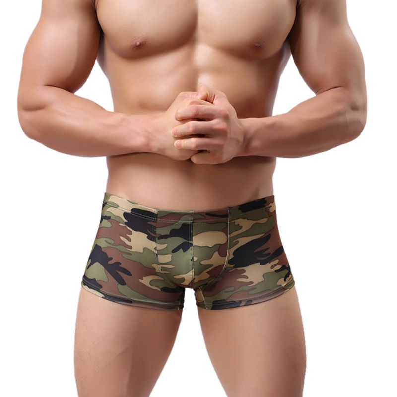 Men\'s Camouflage Print Underwear Soft Stretch Boxer Shorts Man Comfortable Breathable Boxer Men\'s Underwear