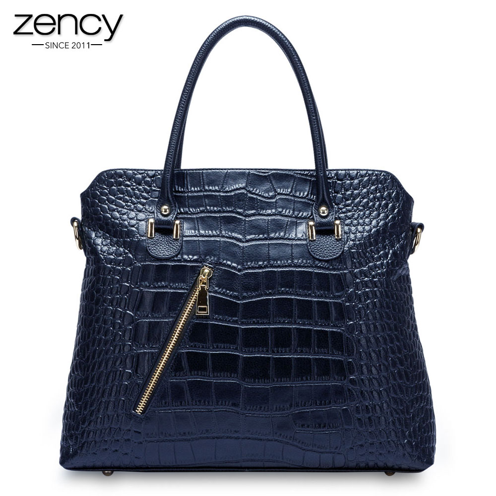 2018 New Arrival Genuine leather Women casual totes Lady Alligator handbag shoulder bag for female classic dress Messenger pack bfdadi 2018 new arrival hat genuine