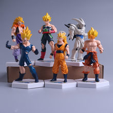 Dragon Ball Kai 6 Sztuk Łopianu Super Saiyan Goku Son Goku Vegeta Action Figure Model Brinquedos Figurka Kolekcja Figura(China)