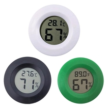 Hygrometer Thermometer Digital LCD Monitor Round Humidity Meter Gauge For Indoor Greenhouse Basement Babyroom Outdoor Tool стоимость