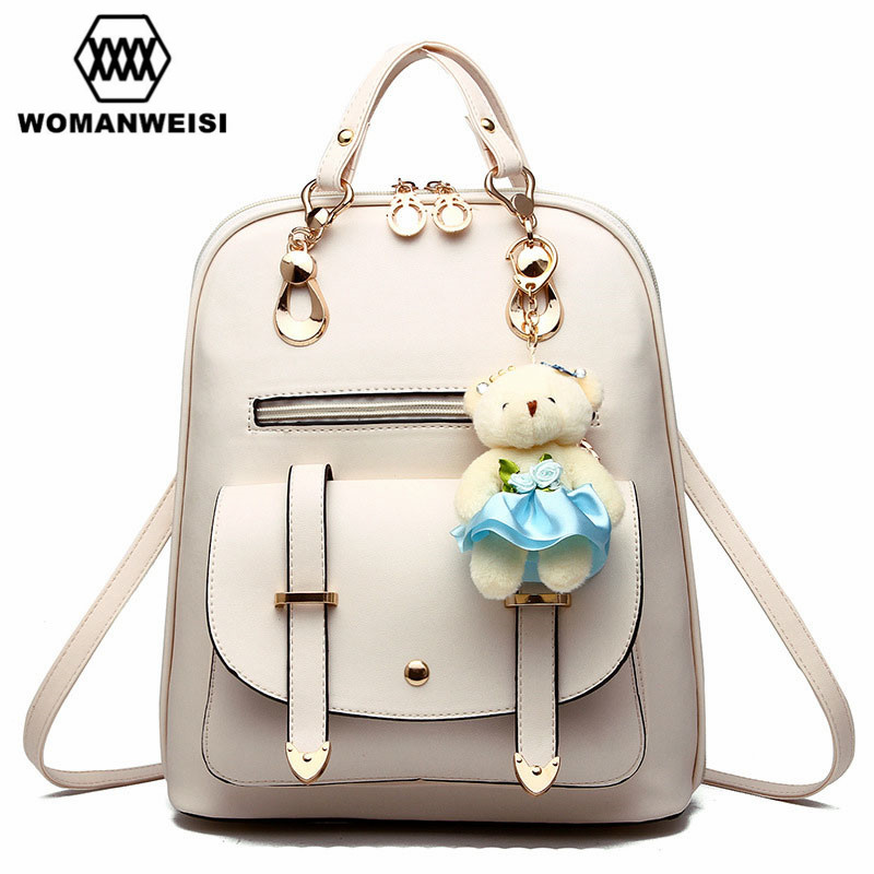 Women Backpack Famous Brand 2018 Luxury Backpacks For Teenage Girls Female Leather School Bag Mochila Bag-Backpack Bagpack Sack 38mm parnis golden dial sapphire glass miyota automatic mens watch