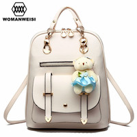 Women Backpack Famous Brand 2018 Luxury Backpacks For Teenage Girls Female Leather School Bag Mochila Bag Backpack Bagpack Sack