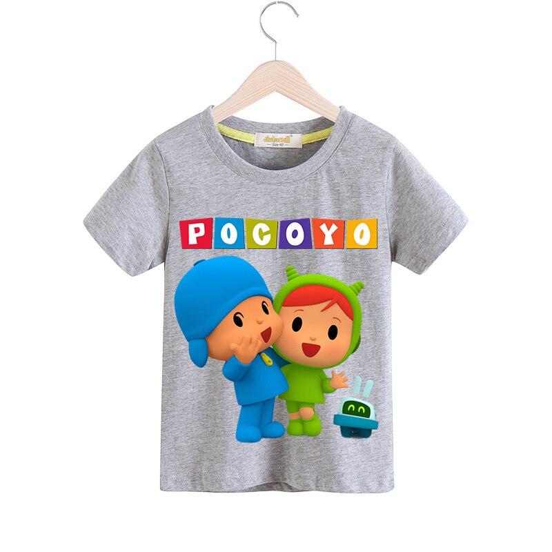 Niño niñas verano 9 colores Tee Tops ropa para niños 3D Pocoyo ...