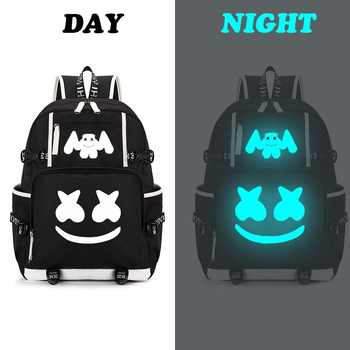 Marshmello American Mystery DJ Backpack Multifunction USB Backpack for Teenagers Men Women Student School Travel Luminous Bags - DISCOUNT ITEM  44% OFF All Category