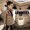 Lavensey Элегантные Мальчики Куртки Осень и Зима Без шапки Высокого класса Мальчиков Верхней Одежды Пальто Для Детей Куртки для Мальчиков 3-12Y Ребенок выиграть