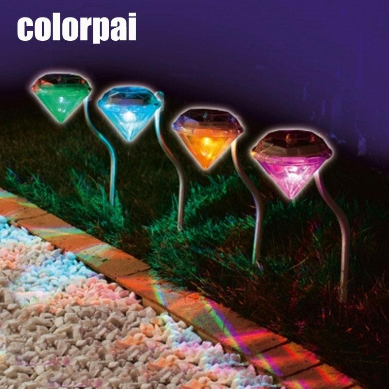 Rustfrit Solar græsplæne til haven dekorative 100% solkraft ledet sollys udendørs ledede sollys Diamond Yard belysning