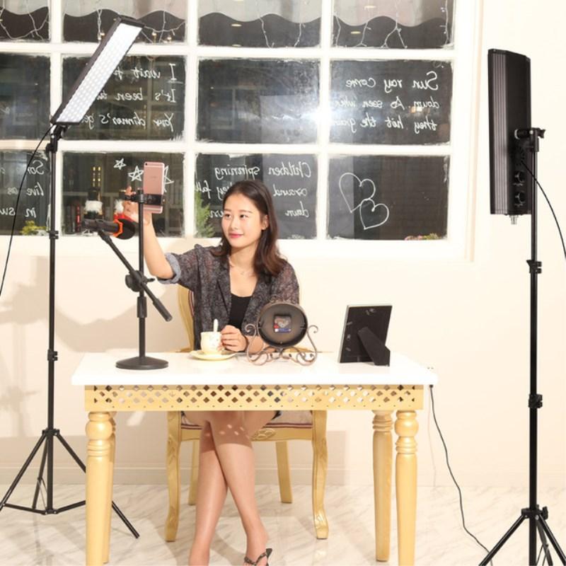 GSKAIWEN фотостудия светодио дный комплект освещения регулируемый свет с подставкой штатив фотографические видео заполнить свет макияж освещ...