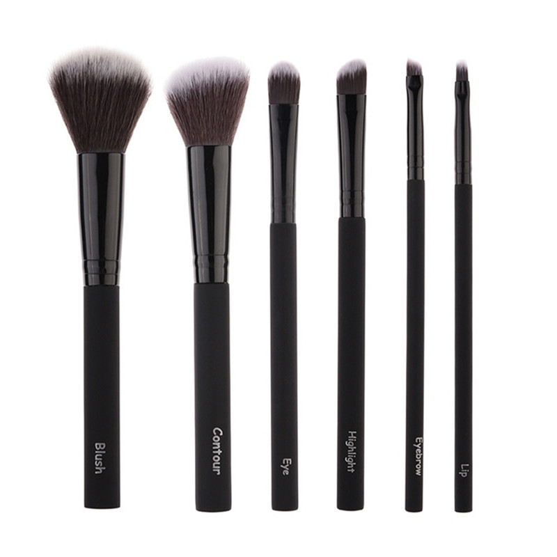 Pro 6 Pcs Makeup Brushes Set Comestic Powder Foundation Blush Eyeshadow Eyeliner Lip Beauty Make up Brush Tools Maquiagem