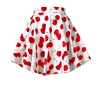 High Quality New 2015 Summer Women 50s 60s Retro Vintage Pinup Skirt Fashion Cherry Skirt Lady