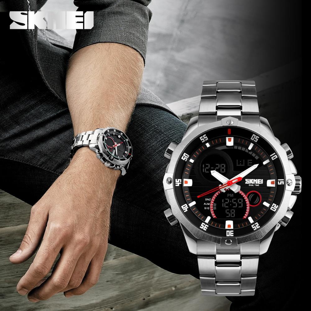 Luksusowa marka Skmei Męskie zegarki wielofunkcyjne Wojskowy Cyfrowy - Męskie zegarki - Zdjęcie 5