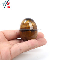 2016 Hotsle Natural Gemstone 4 5cm Nice Crystal Christmas CharmsTiger Eye Egg Reiki Healing Semi Precious