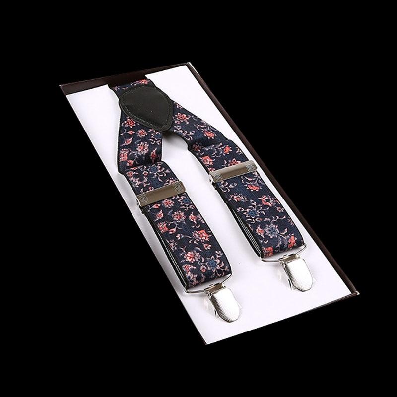 European And American Fashion: 3.5*100cm Three-fold Printed Men's Suspenders  FY18081605