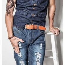 Retro Genuine Leather Pin Buckle Belt for Men