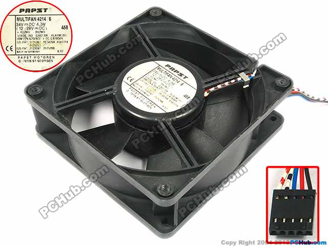 Free shipping for ebm-papst MULTIFAN 4214/6 DC 24V 4.3W 5-wire 5-pin 120x120x38mm Server Square fan скатерть les gobelins chiens круглая диаметр 160 см
