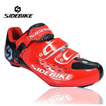 Sidebike Unisex Bicycle Road Cycling Shoes Breathable Non-Slip Road Bike Lock Shoes Zapatillas Ciclismo Bicicleta