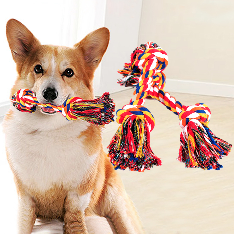 Pet cotton ropes Dog Chew Toys Protect Clean teeth Dog Toy