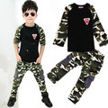 2PCS Camouflage tops+pants cotton T shirt boys girls tracksuit baby boys clothing kids clothes girls for 2 3 5 6 8 9 years boys