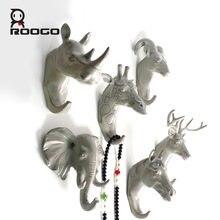 Вешалка для ключей roogo настенный декоративный крючок с головой