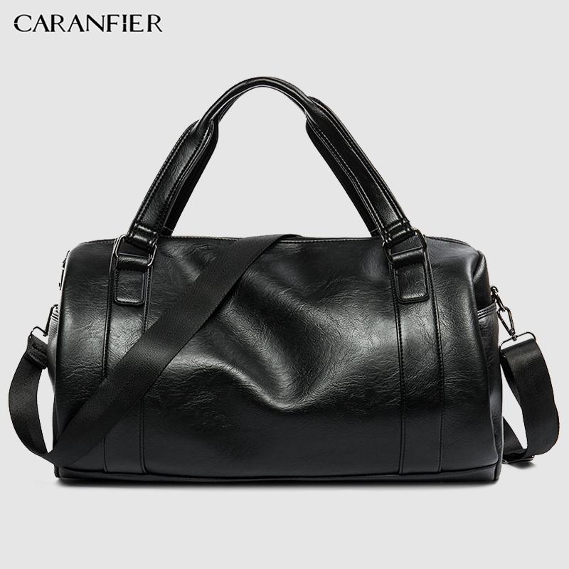 CARANFIER Mens Top PU Leather Handbags Travel Bags Classic Workout Shoulder  Handbag Male Bag Men Sports Bags Gym Crossbody Packs - BroadBazaar. » 8a9af1dd17
