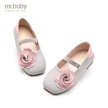 Mr. для маленьких детей обувь 2018 Весенняя Новинка сладкий цветок туфли принцессы квадратный обувь для девочек