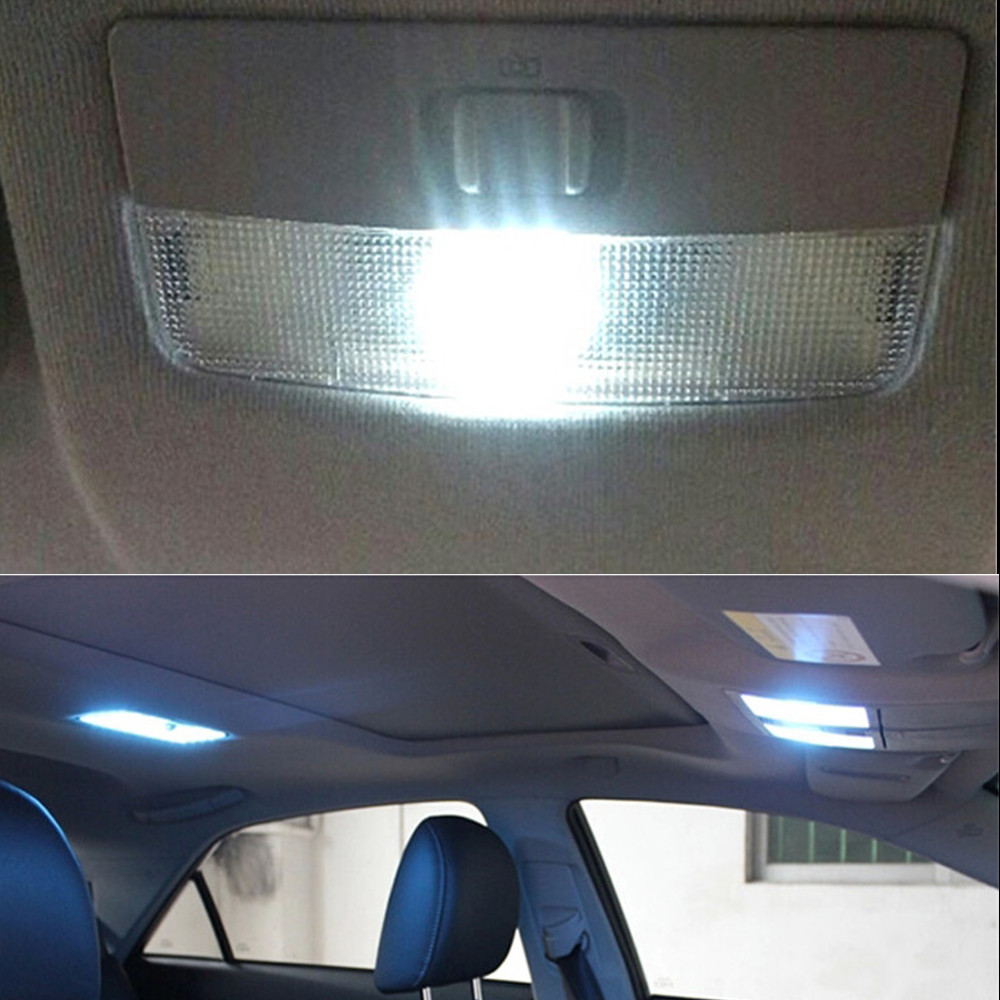 12v 7pcs LED interior light kit package for Skoda Fabia 2 2007 Dome+Rear +Trunk +Glove box lights car styling 10pcs white led car light bulbs interior package kit for 2007 2008 2009 2010 2011 2012 acura rdx dome trunk step courtesy lamp
