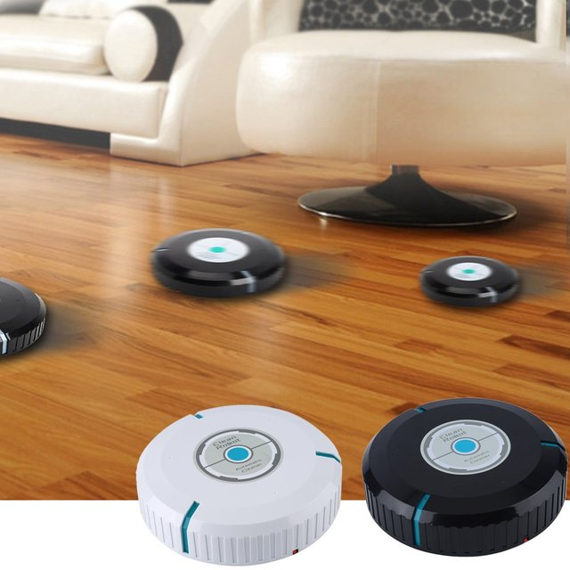 Marvelous Home Auto Cleaner Microfiber Smart Robotic Mop Floor Dust Clean Robot  Corners House Cleaning Vacuum Black