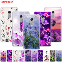 HAMEINUO Simple lavender Purple flowers design Cover phone Case for