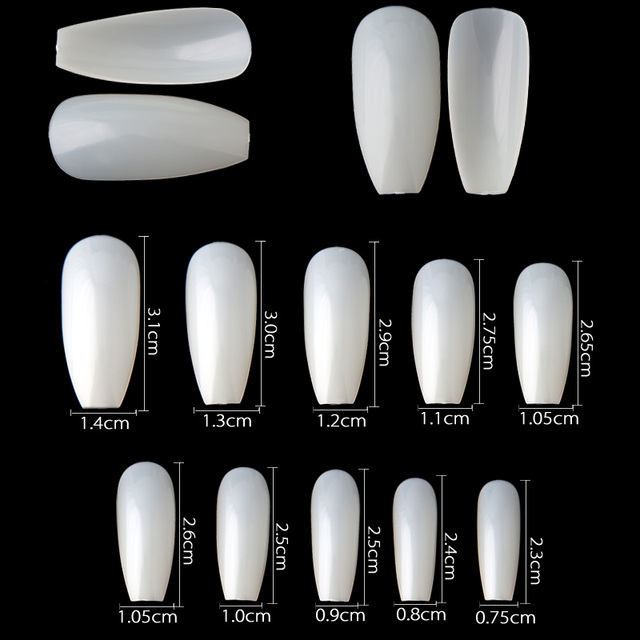 New Long Ballerina Full Cover False Nail Art Tips 100Pcs/box Free ...