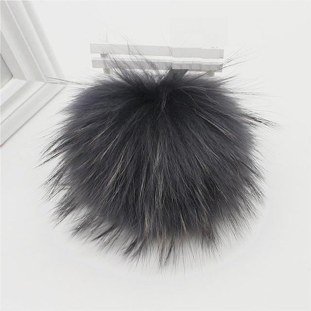 15pcs / lot Көтерме бағасы Real Raccoon Fur Ball 14cm - Киімге арналған аксессуарлар - фото 2