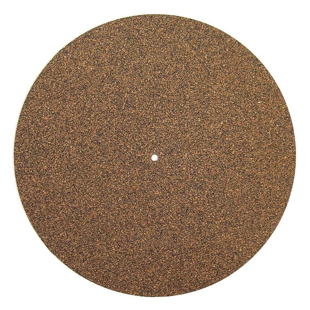 Cork & Rubber Turntable Platter Mat LP Slip Mat Audiophile 3mm Anti-Static Slipmat For LP Vinyl Record
