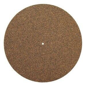 Image 1 - コルク & ゴムターンテーブル盛り合わせマット LP スリップマットオーディオファン 3 ミリメートル帯電防止スリップマット lp ビニールレコード
