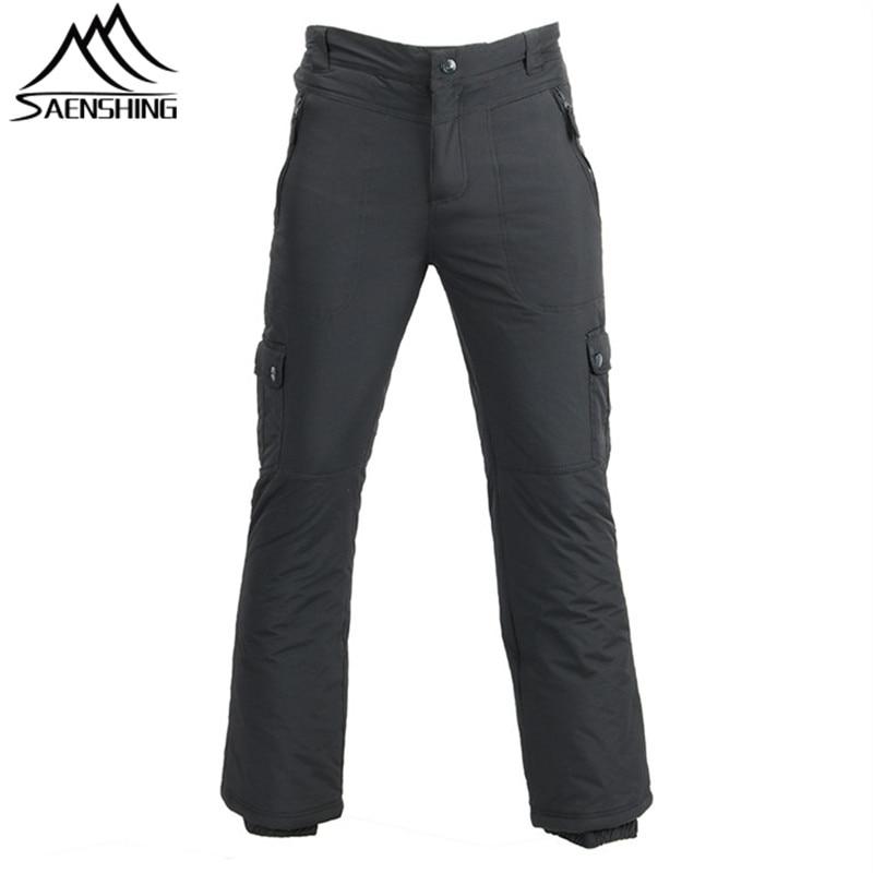 Cheap Ski Pants Men Winter Waterproof Outdoor Pants Super Warm Snowboard Snow Trousers Male Mountain Skiing Snowboarding Trouser