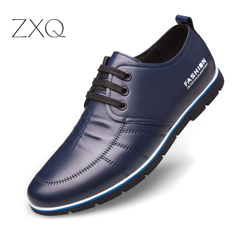 Brand Men Shoes England Trend Casual Leisure Shoes Leather Shoes Breathable For Male Footear Loafers Men's Flats