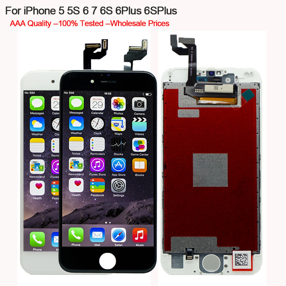 5PCS/lot For iPhone 5S 6 6S 6Plus LCD Display Touch Screen Digitizer Assembly replacement for iPhone 5 5S 6S 6 Plus AAA Quality image
