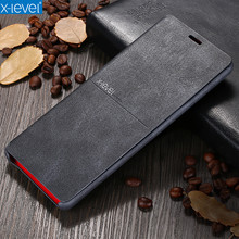 X-Level leather Case For Samsung Note 9 8 Ultra Thin Flip Protective Kickstand Back Cover Case For Samsung Galaxy Note 8 Note9