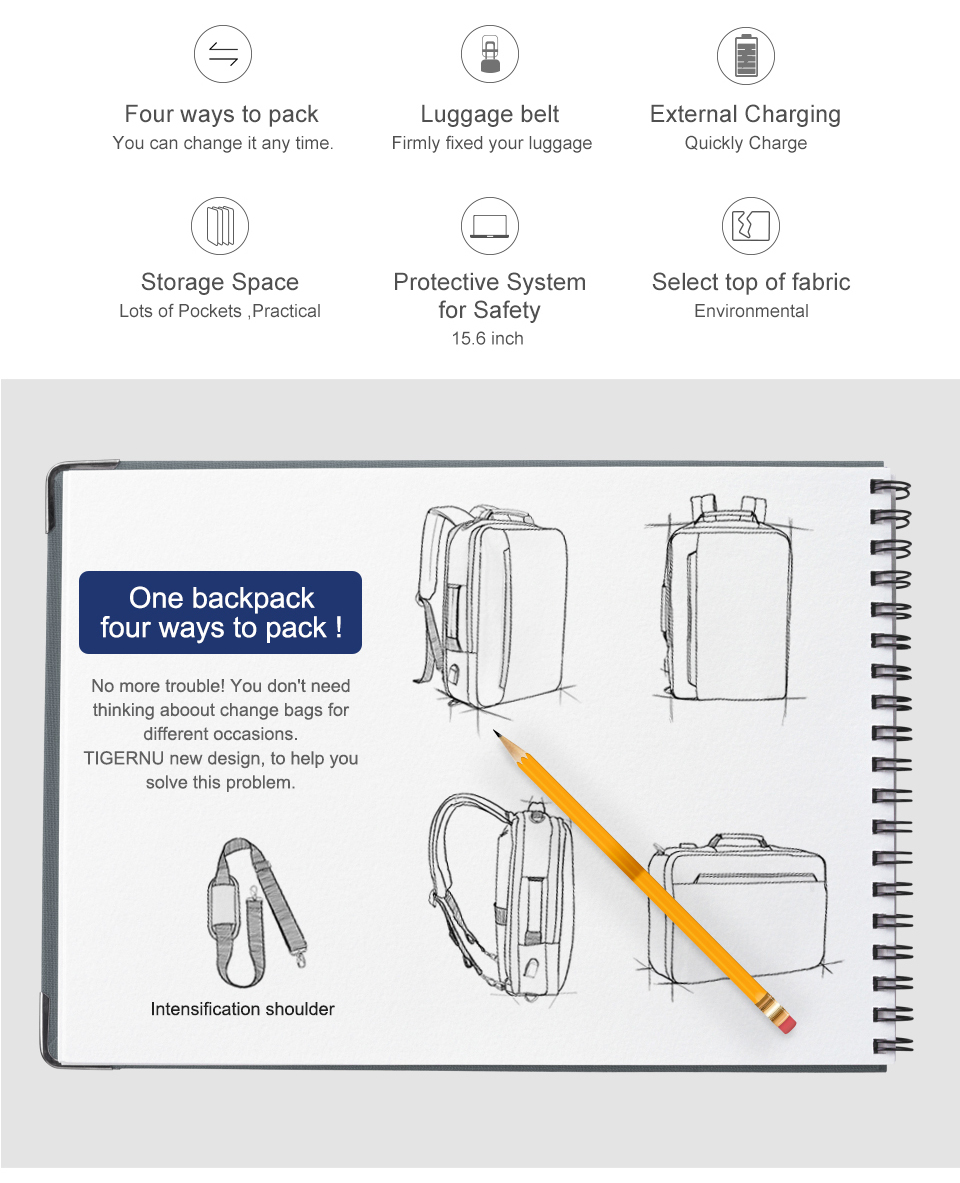 2.laptop backpack