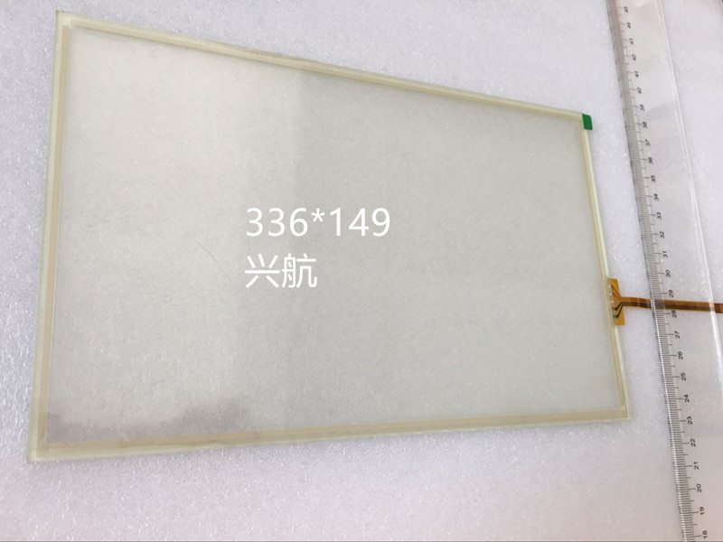 original new 4-wire resistance IPC touch screen shape 336 * 149 side of the outgoing line length 78 with adhesive touch screen ipc floor pca 6114p10 rev b1 100% test