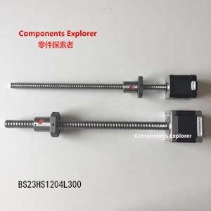 NEMA23 48mm two phase bipolar stepper motor Rolled 1204 Ball Screw Stepper Motor Linear Actuator 42bygh33 two phase 4 wire screw linear stepper motor drive screw length of 100